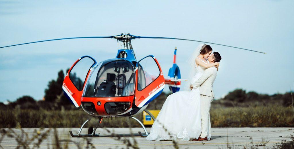 Dịch vụ cho thuê trực thăng chụp ảnh cưới